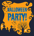 Poster of halloween party vector image