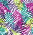 Fern frond seamless pattern vector image