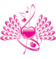 abstract heart wings vector image