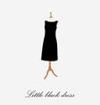 Woman black dress vector image