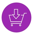 Online shopping cart line icon vector image