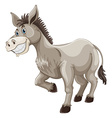 Donkey with silly face vector image