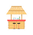 beach bar on white background vector image