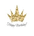 Birthday glitter crown icon vector image