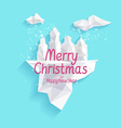 Christmas concept poster vector image