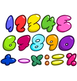 Comic bubble numbers vector image