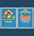 funfair set of two posters vector image