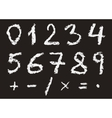 Hand written chalk numbers vector image