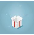 Isometric magic opened box vector image