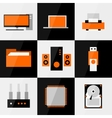PC icon set vector image