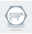 premium beef label badge Farm shop cow milk vector image