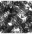 Seamless pattern of fern leaves vector image