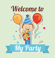 welcome to my party vector image
