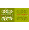 Christmas knitted pattern vector image