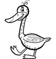 goose cartoon for coloring vector image
