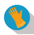 laundry gloves isolated icon vector image
