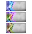 abstract card rainbow vector image vector image