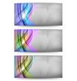 abstract card rainbow vector image