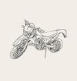 red motorbike sketch vector image