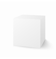 white box isolated on white background vector image
