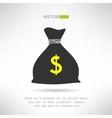 Simple money bag icon Bank savings symbol concept vector image