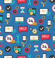 Seamless pattern with support equipment vector image