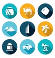 Arab Emirates Icons Set vector image