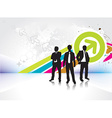 standing businessman silhouette vector image