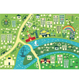 town graphic map vector image vector image