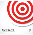 abstract background white and red target vector image
