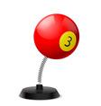 Billiards souvenir vector image