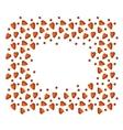 Editble Valentine Background vector image