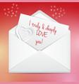 Love letter in envelope vector image