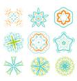 Ornament line art design colorful set vector image