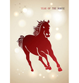 Red Chinese New Year of horse 2014 background vector image