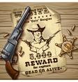 Sheriff Stars Vintage Design vector image
