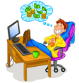 thinking about money vector image