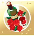 Wine and roses vector image