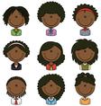 African-American female avatar vector image