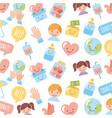 icon set children donate vector image