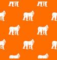 mandrill monkey pattern seamless vector image