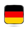 German flag button vector image vector image