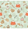 Seamless pattern with sweets vector image