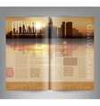 template print edition of the magazine with night vector image