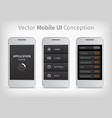 gray and orange mobile user interface vector image