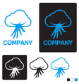 cloud service logo template vector image