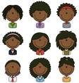 African-American female avatar vector image