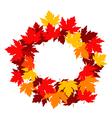 autumnal falling leaves frame for seasonal design vector image