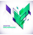 Geometric 3D abstract background vector image