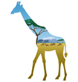 Giraffe Landscape vector image